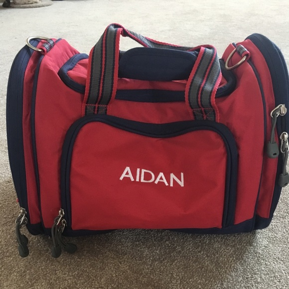 Pottery Barn Kids Other - Pottery Barn Boys Red Personalized Small Duffle